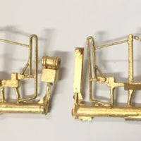 830 Class Loco Front Hand Rail with MU stand and tank suits Powerline S.A.R. 830 class Locomotive 1 Pair. Ozzy Brass #59