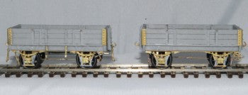 P.BOORMANS HO #18 D WAGON 3 PLANK 15 ft, KIT SUPPLIED AS TWO PACK. KIT INCLUDES URETHANE CASTING, BRASS ETCH, LOST WAX BRASS, WHEELS AND DECALS SUPPLIED