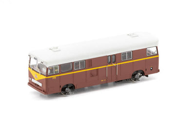 AUSCISION PAY BUS PB-8 FP-11 INDIAN RED with Large Black / Blue L7 cat No PB-8-DC MODEL MODEL