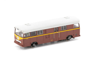 AUSCISION PAY BUS PB-7 FP-10 INDIAN RED with Large Black/Blue L7 cat No PB-7 - DC MODEL