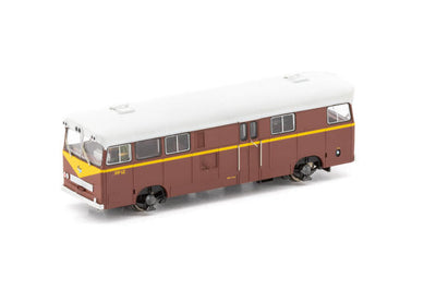AUSCISION PAY BUS PB-5 FP-12 INDIAN RED with Small Black/Blue L7 cat No PB-5 DC MODEL
