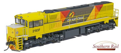 QR 2193F HO 16.5 mm Gage Q21/04 2170 CLASS – QRN BANANA LIVERY/ AURIZON LOGO MAXI SFT 2012 to 2018+ With ESU DCC & SOUND