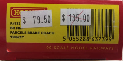 Hornby: new R4782 ,BR Mk1 Mk1PARCEL BRAKE COACH 'E80627' NEW MODEL. DISCOUNT PRICE.