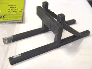 Rail Central: RC 1005B2 NSWGR TIMBER BUFFER STOPS two in a pack. RRP $9.95 SPECIAL $6.00