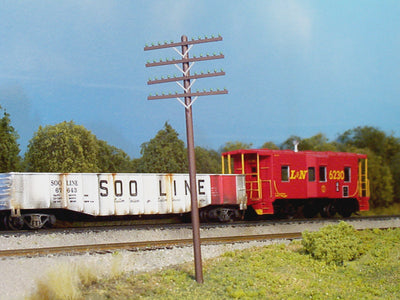 RIX 0034 RAILROAD TELEGRAPH / TELEPHONE POLES with 4 CROSS ARMs in  KIT form. (RRP $14.94) SALE PRICE. $9.95.
