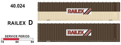 SDS Models: 40' Jumbo Containers: Twin Packs: Railex D : 40.024