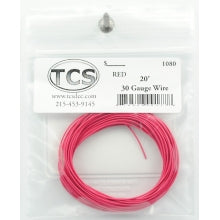 TCS #1080 : 20' 30AWG Red Wire