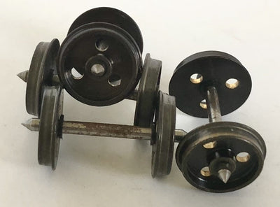 Joe's Romford Metal 12mm 3 hole disc Wheels with 26 mm Axles (4)