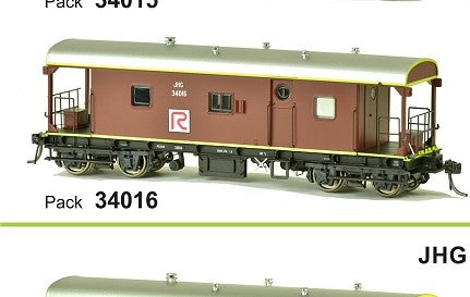 JHG SDS Models: Guards Van: JHG34016  Red R Logo