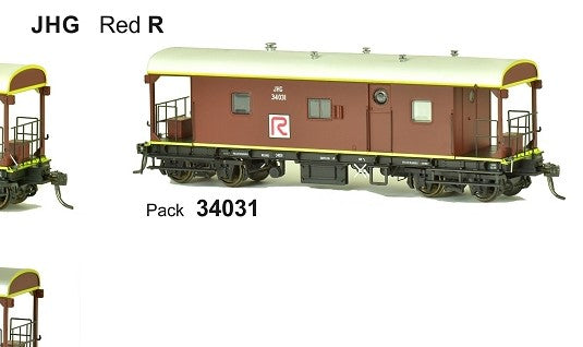 RRP $125 Save $26!!! : JHG SDS Models: Guards Van: JHG Red R: Pack 34031