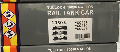 RTC005  1950 PACK C VOC 171, VOC 196, VOC 203 SDS Models: 3 X 10000 Gallon Rail Tank Car: Pack C MOBIL TANKS THE R.R.P. IS $225  SALE $198.00