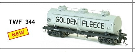 TWF 344 SDS Models: Vic Railways: 10000 Gallon Rail Tank Car: Single Pack: GOLDEN FLEECE TWF 344  RRP $55.00