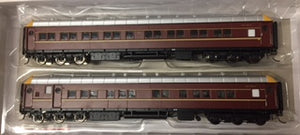 SI-202b On Track Models: MFH2705 & MFA2716  NSWGR Supplementary Interurban Two Car Set DEEP INDIAN RED no logo's 80/90's