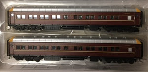 SI-202c On Track Models: MFA2712 & MFA2714 NSWGR Supplementary Interurban Two Car Set DEEP INDIAN RED no logo's 80/90's