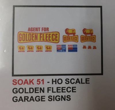 SK 51 DECAL for HO GOLDEN FLEECE GARAGE SIGNS