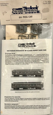Steam Era Models - R16 BW PASSENGER CAR KIT (THE PICTURE IS THE FINISHED MODEL)