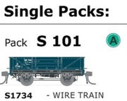 AUSTRAINS NEO - S Wagon  -Pk S 101 ( S1734 ) WAGON with DISC WHEELS, NO BUFFERS,  WIRE TRAIN TRAFFIC Single PACK.