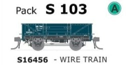 S Wagon SDS Models -Pk S 103 ( S16456 ) WAGON with DISC WHEELS, NO BUFFERS,  WIRE TRAIN TRAFFIC Single PACK.