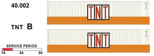 SDS Models: 40' Jumbo Containers: Twin Packs: TNT B : 40.002