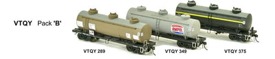 SDS Models: Vic Railways: 10000 Gallon Rail Tank Car: VTQY Pack B
