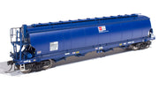 WGB01 ANNIVERSARY DISCOUNT SALE WGB03 Southern Rail : AWB - WGNY GRAIN HOPPER DK BLUE AS BUILT c. 2009 to 2019, 3 PACK SET,