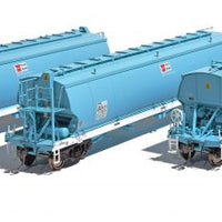 WGB07 Southern Rail DISCOUNT:  #WGB07 AWB - WGNY GRAIN HOPPER FADED DK BLUE AS BUILT c. 2009 3 PACK SET.