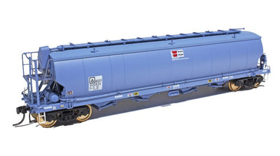 WGS06 Southern Rail DISCOUNT: #WGS06 AWB - WGSY VIC & SA BROAD GAUGE GRAIN HOPPER DARK BLUE AS BUILT c. 2010 to CURRENT | PACK OF 3.