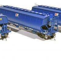 Southern Rail : 23.5% DISCOUNT #WGS05 AWB - WGSY VIC & SA BROAD GAUGE GRAIN HOPPER DARK BLUE AS BUILT c. 2010 to CURRENT | 3 PACK, REDUCED PRICE FOR EVERYONE & SRM's GOLD & PLATINUM MEMBERS AT $183.60 A PK