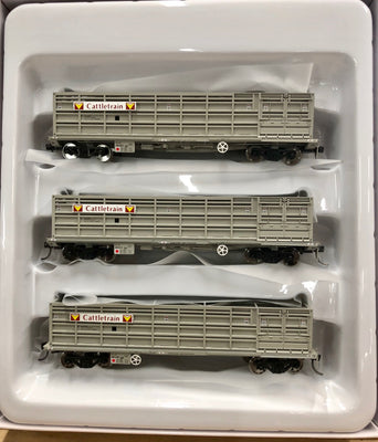 QR Wuiske Models: RTR022 KOJX CATTLE WAGON: Set 8. Cattletrain HO 16.5 mm bogies :  Pack of 3 wagons