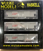 QR Wuiske Models: RTR004: QLX BOX WAGON HO-16.5 mm- HO-SET 4 :  Pack of 3 wagons
