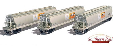XG07 ANNIVERSARY DISCOUNT SALE Southern Rail : XGAY's C35 BULK GRAIN TRAIN WAGONS 3 PACK ATN ACCESS GRAIN HOPPER – AS BUILT