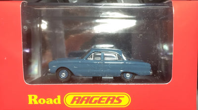Road Ragers: 1960 XK Falcon Sedan Pacific Blue. HO Car. die cast. R018