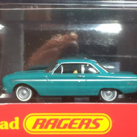 Road Ragers: 1964 XM Ford Falcon Coupe Tourquoie Mist. HO Car. diecast. R022