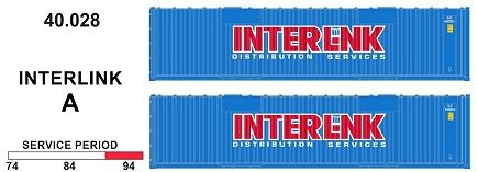 SDS Models: 40.028 A  40' Jumbo Containers: Twin Packs: Interlink pkA : 40.028