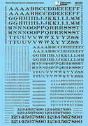 MICROSCALE 90122 HO Scale Alphabets & Numbers - Stencil Railroad Roman -- Black 16', 12', 8', 6', 4