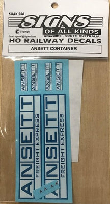 SK256 HO DECAL - ANSETT CONTAINER