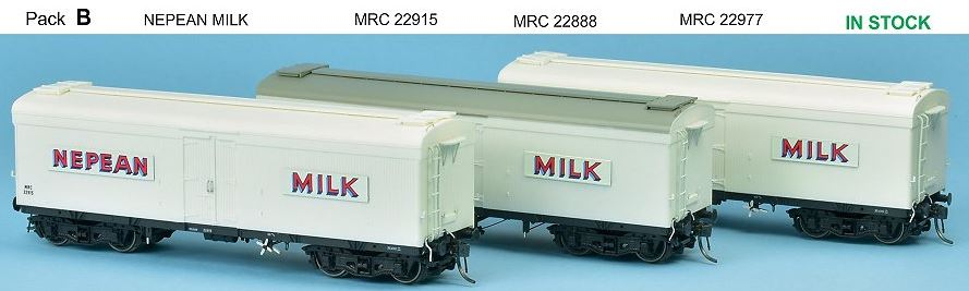 SDS Models: NSWGR: MRC Ice Chilled Wagon: Pack B: Nepean Milk