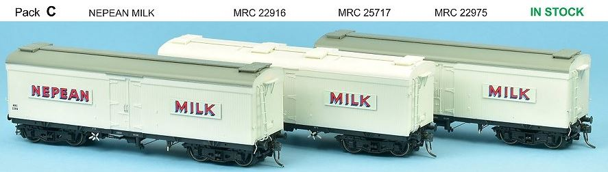 SDS Models: NSWGR: MRC Ice Chilled Wagon: Pack C: Nepean Milk
