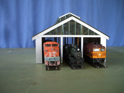 M00098 Laser Cut Kit Narrabri 3 Bay NSWGR Loco Shed HO