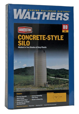WALTHERS: Concrete-Style Silo -- Kit - 1-5/8