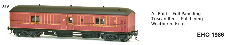 EHO SDS Models: EHO1986 As Built - Full Paneling Tuscan Red - Full Lining Weathered Roof. **#019