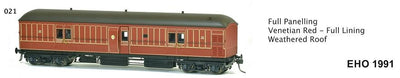 EHO SDS Models: EHO 1991 Full Panelling Venetian Red - Full Lining Weathered Roof