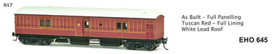 EHO SDS Models: EHO 645 Full Paneling Tuscan Red - Full Lining White Lead Roof **