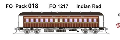 FO 018 AUSTRAINS NEO : End Platform Car FO 1217 Single Car -  Indian Red