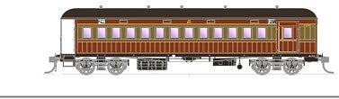 FO 015 AUSTRAINS NEO : End Platform Car CCA 1447 Single Car - Venetian red & Russet