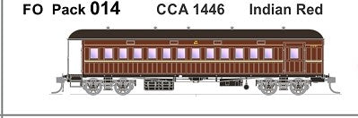 FO 014 AUSTRAINS NEO : End Platform Car CCA 1446 Single Car - Indian red