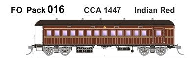 FO 016 AUSTRAINS NEO : End Platform Car CCA 1447 Single Car - Indian Red