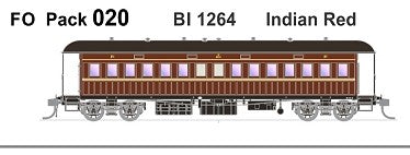 FO 020 AUSTRAINS NEO : End Platform Car BI 1264 Indian Red Single Car (new run)