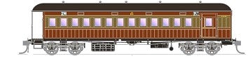 FO 013 AUSTRAINS NEO : End Platform Car CCA 1446 composite car brake van Single Car - Venetian Red & Russet