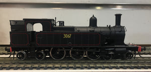 3067 - Austrains: NSWGR C30 Tank locomotive without headlight  #3067: with Grated Bunker.-